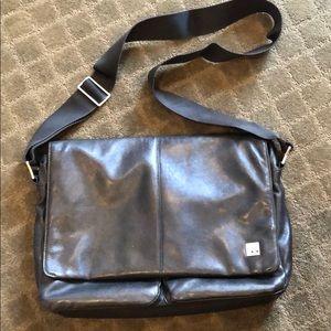 Knomo Kobe leather laptop bag briefcase